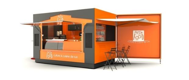 Fabricant food truck remorque street food for Kiosque exterieur design