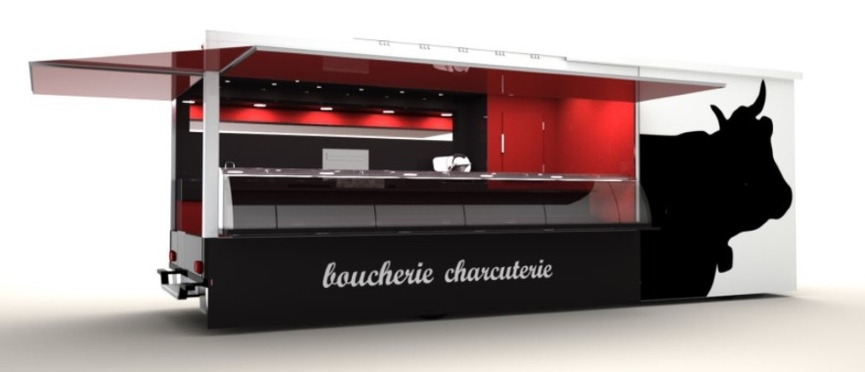 fabricant camion remorque boucher charcutier boucherie. Black Bedroom Furniture Sets. Home Design Ideas
